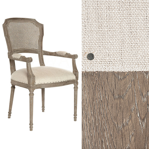 Chelsea Dining Chair In LinenCane Back By Aidan Gray - Aidan gray dining table