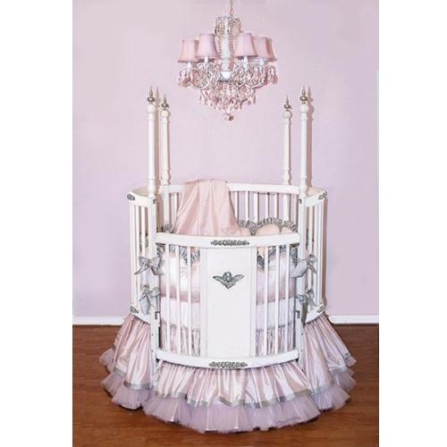 Alexa Crib Baby Bedding In Silver By Little Bunny Blue