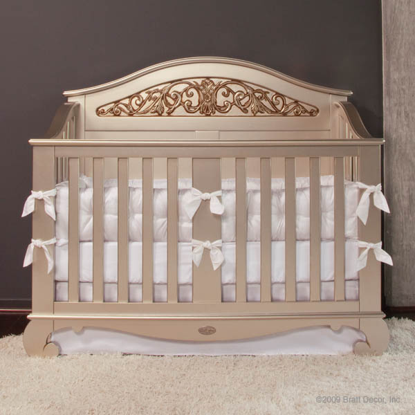 Chelsea Lifetime Crib In Antique Silver By Bratt Decor