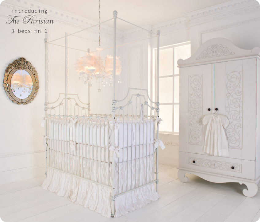 Parisian 9 In 1 Crib In Distressed White By Bratt Decor