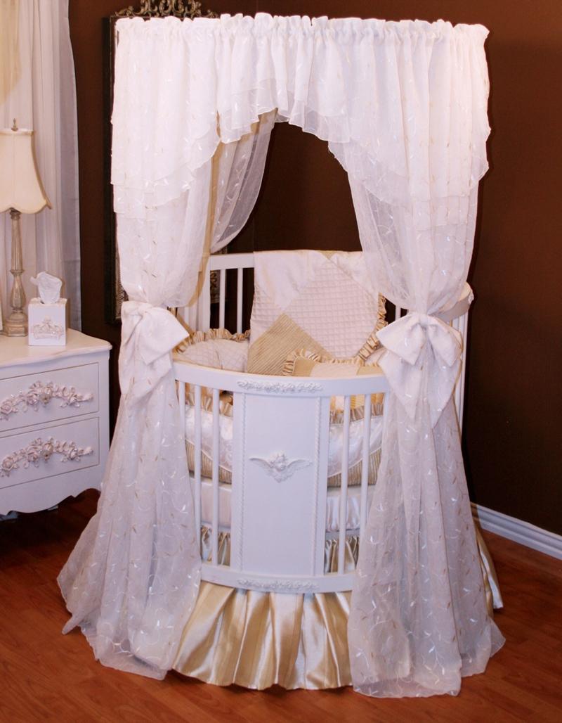 Royal Palace Round Crib By Villa Bella