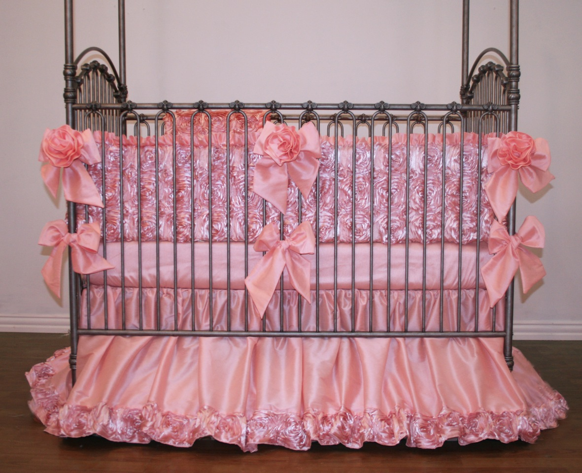 Rose Dior Crib Baby Bedding By Little Bunny Blue