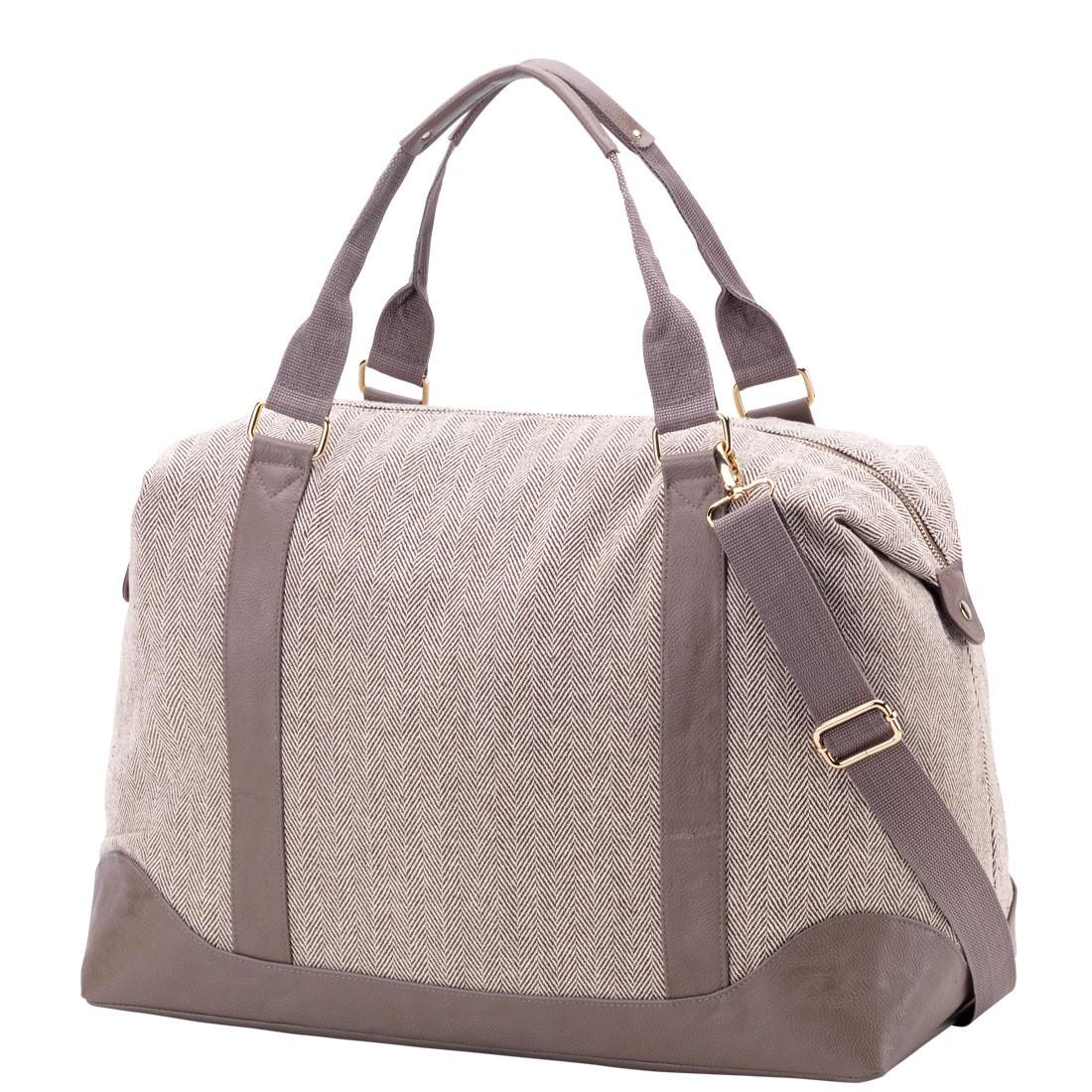 Weekender Bag In Herringbone By Monogram Boutique