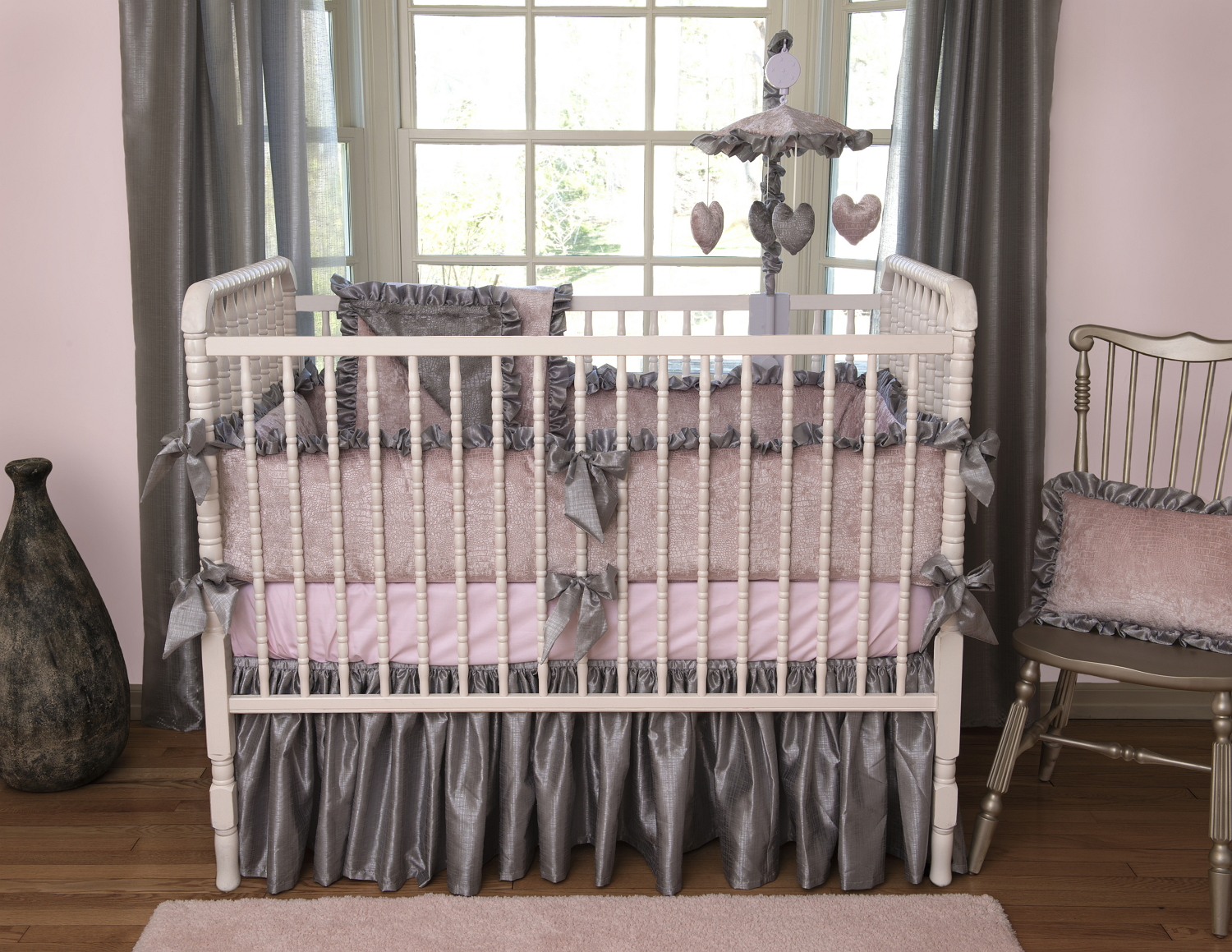 Charlotte Crib Baby Bedding Crib Rail Covers By Bebe Chic