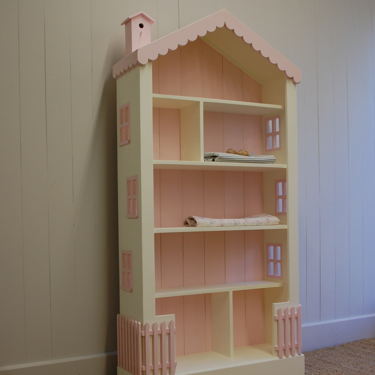 Cottage Dollhouse Tall Bookcase By English Farmhouse Furniture