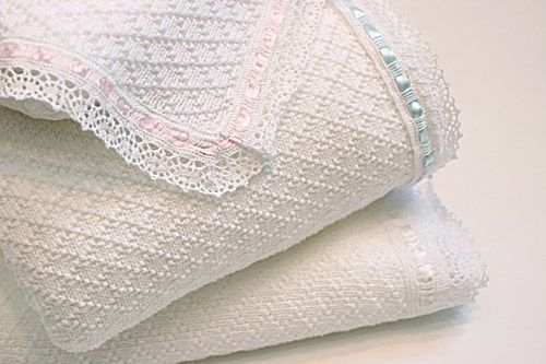Diamond Texture with Lace Trim Blanket by ASI