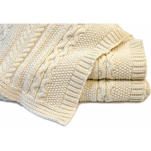 Classic Aran Knit Blanket by ASI