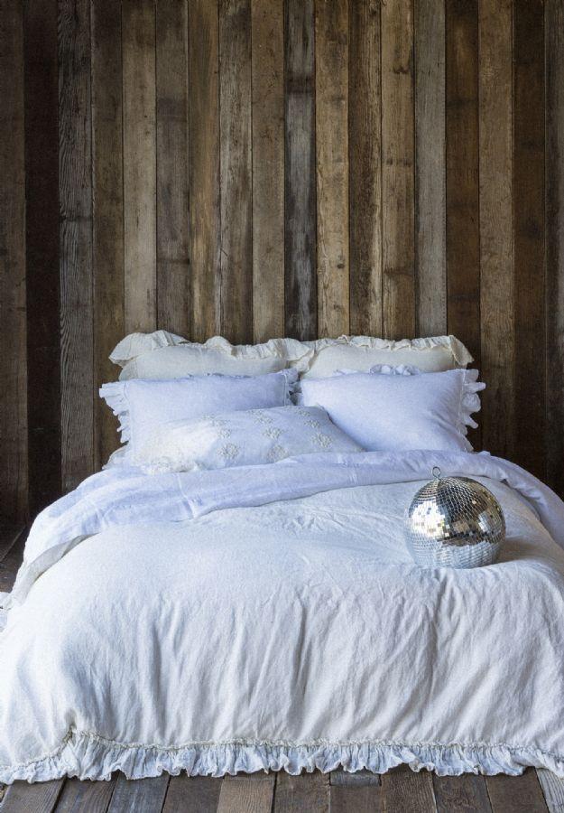 Linen Whisper Ruffled Children's-Adult Bedding by Bella Notte Linens