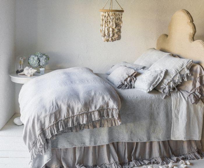 Linen Whisper in Fog & Cloud Children's-Adult Bedding by Bella Notte Linens