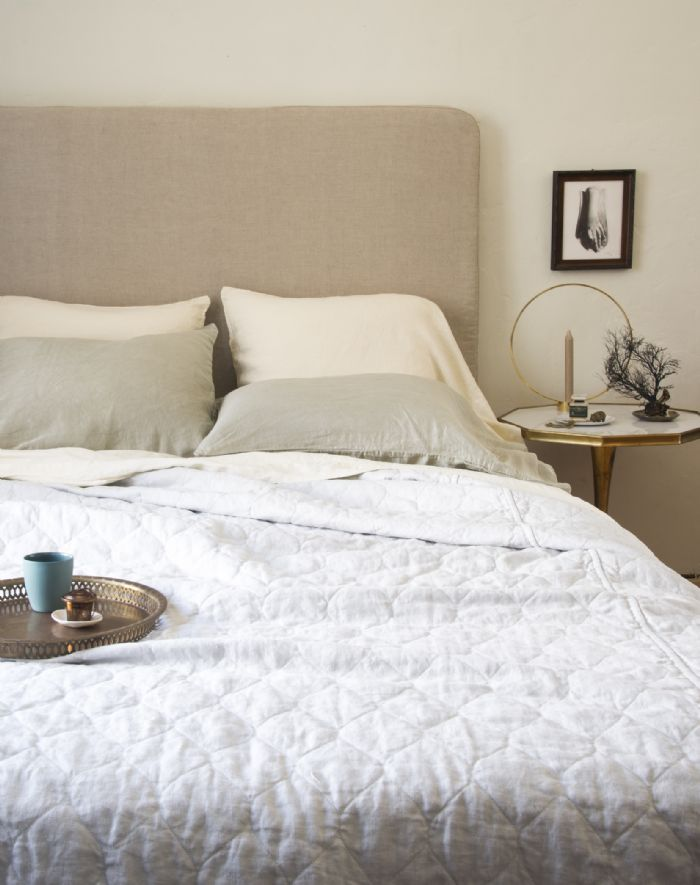 Austin, Paloma & Linen in Fog,Mineral and Sterling Bella Notte Linens Bedding by Bella Notte Linens