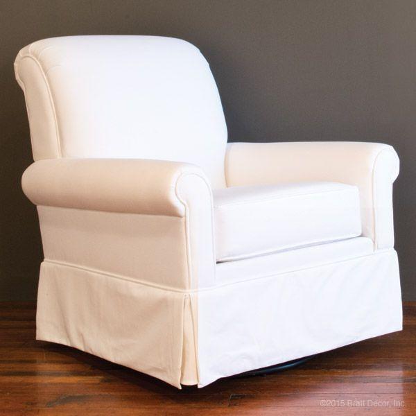 Luxury White Canvas Glider by Bratt Decor