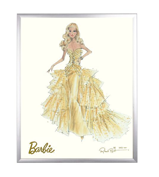 Limited Edition Fashion Model Barbie- 50th Anniversary in Silver by AFK Art For Kids