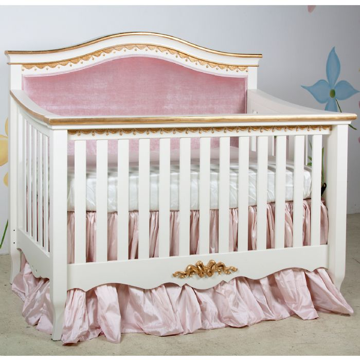 Amelie Convertible Crib - Upholstered by AFK Art For Kids