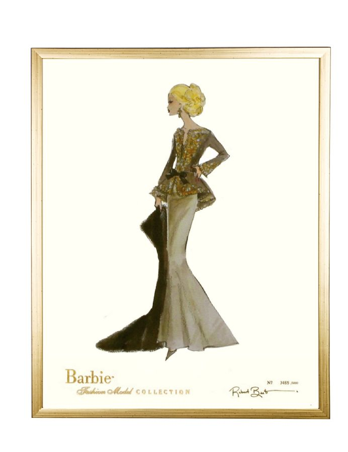 Limited Edition Fashion Model Barbie- Capucine in Gold by AFK Art For Kids