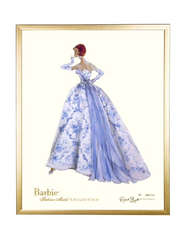 Limited Edition Fashion Model Barbie- Provencale in Gold by AFK Art For Kids