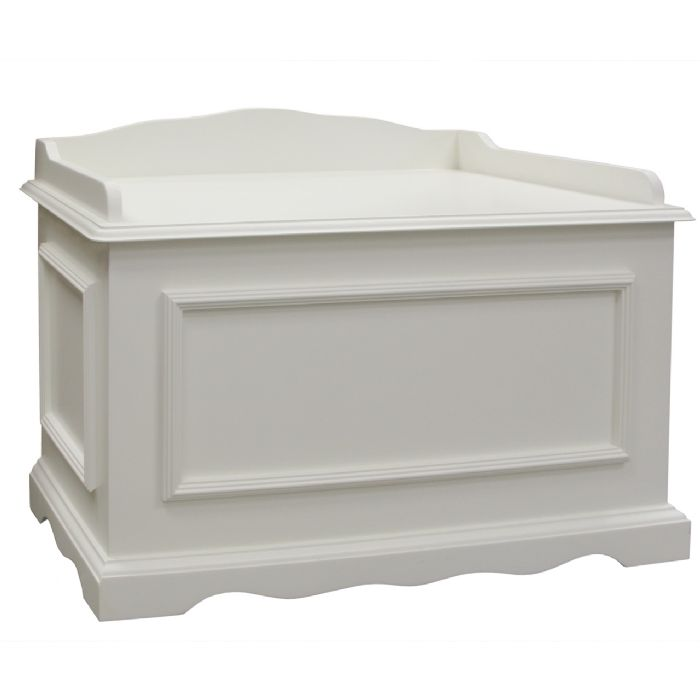 Vintage Toy Chest in Antico White by AFK Art For Kids