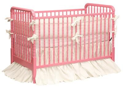 Antique Spindle Crib in Carnation Pink (Choice of Color) by AFK Art For Kids