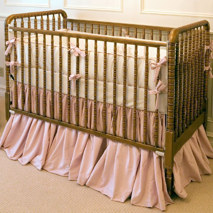 Antique Spindle Crib in Metallic Brass by AFK Art For Kids