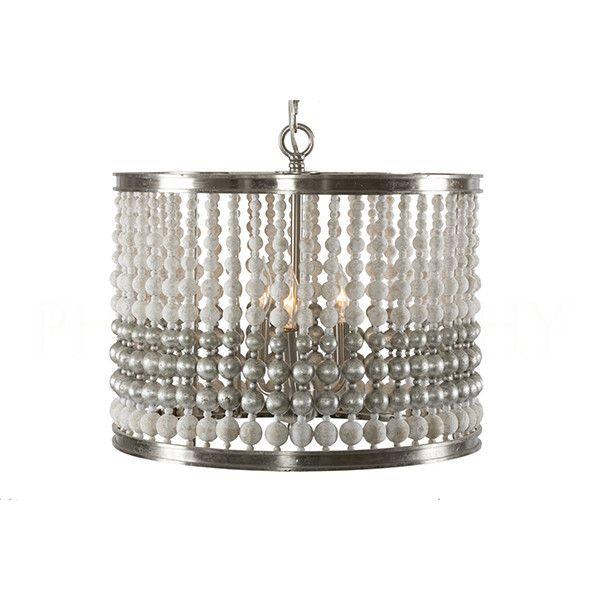 Barrel Chandelier in Silver - Small by Aidan Gray