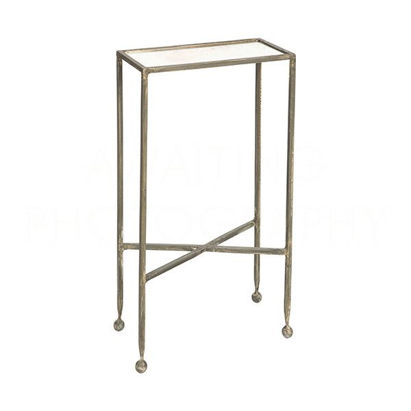 Chino Side Table in Silver by Aidan Gray