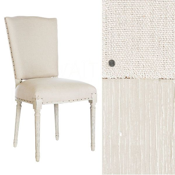 Ethan Upholstered Dining Chair in Linen by Aidan Gray