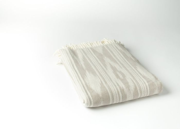 Ikat Throw with Stripes by ASI