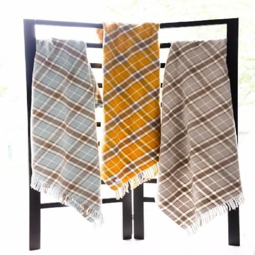 Plaid Pattern Throw by ASI