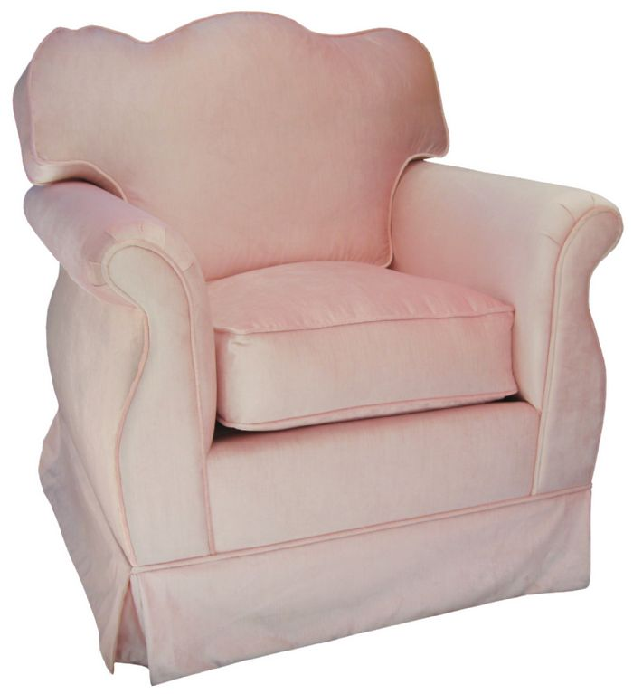 Aspen Empire Glider in Pink Velvet by Angel Song