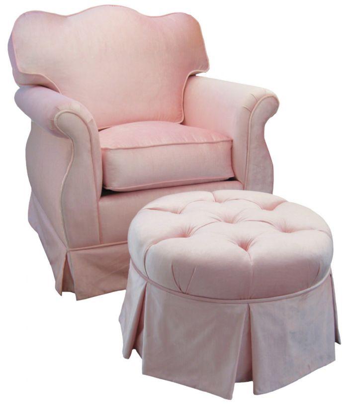 Aspen Empire Glider Set in Pink Velvet by Angel Song