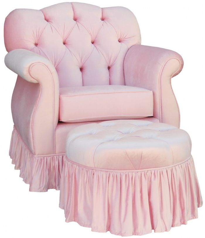Aspen Empire Tufted Glider in Pink  Velvet by Angel Song