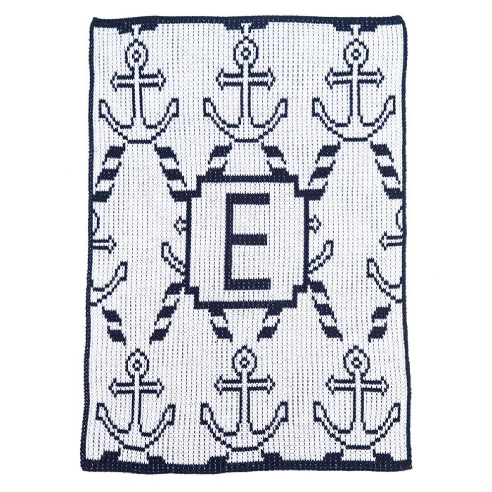 Anchors & Rope Blanket by Butterscotch Blankees