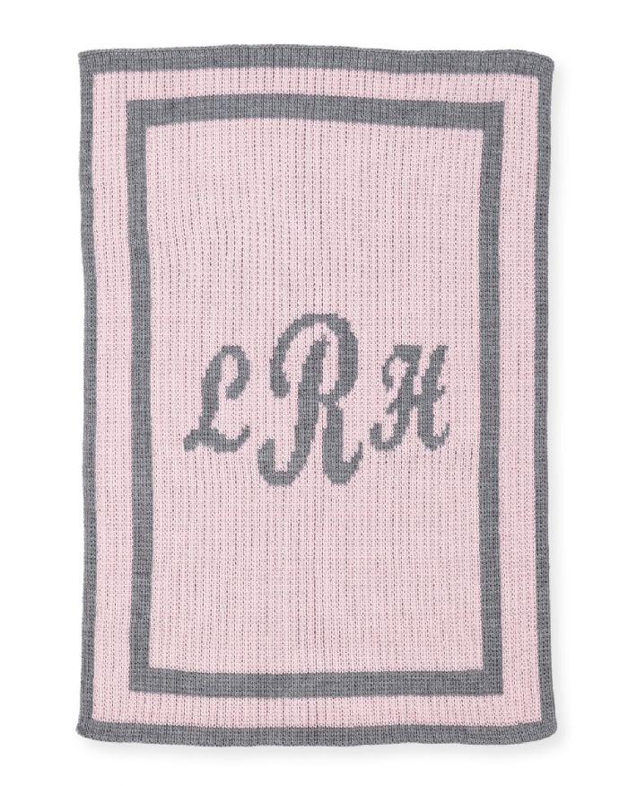 Classic Monogram Blanket- Script by Butterscotch Blankees