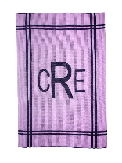 Cross Border Monogram Blanket by Butterscotch Blankees