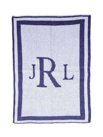 Classic Monogram Blanket by Butterscotch Blankees