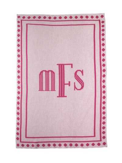 Debonair Monogram Blanket by Butterscotch Blankees