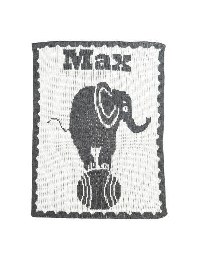 Elephant on Ball Blanket by Butterscotch Blankees