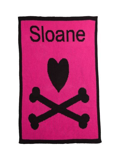 Heart and Crossbones Blanket by Butterscotch Blankees