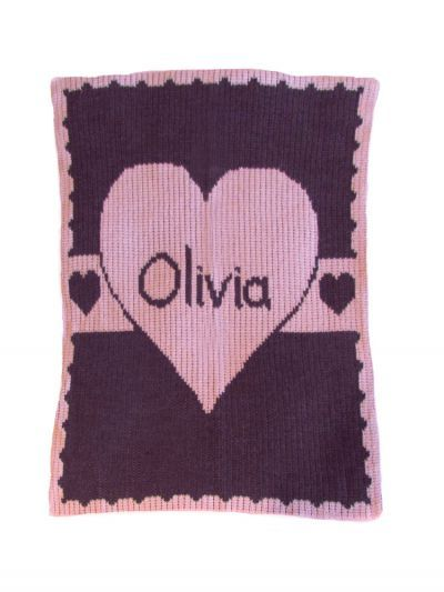 Heart with Banner Blanket by Butterscotch Blankees