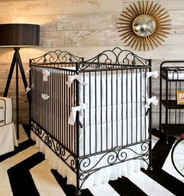 Casablanca 3 in 1 Convertible Crib in Distressed Black by Bratt Decor