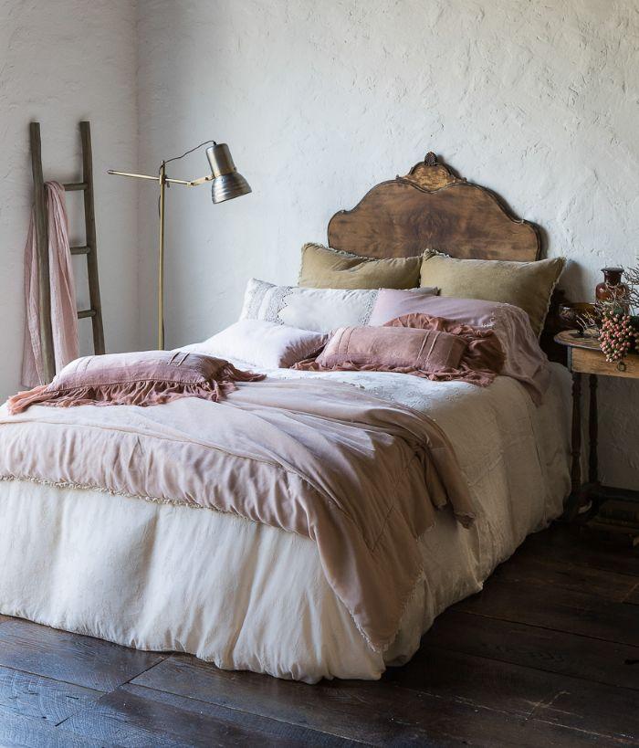 Carmen in Rosegold & Pearl Bella Notte Linens Bedding by Bella Notte Linens