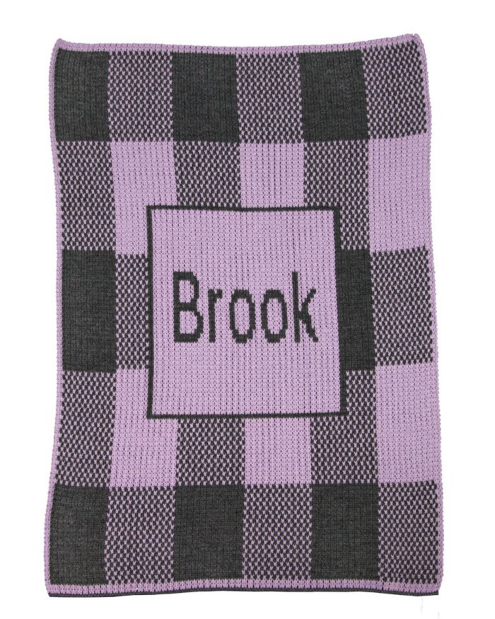 Buffalo Check Name Blanket by Butterscotch Blankees
