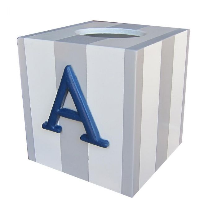 Deluxe Striped Letter Tissue Box by Charn & Company
