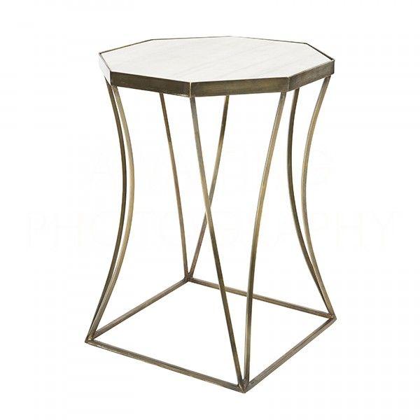 Cuadrado Side Table in Antique Brass by Aidan Gray