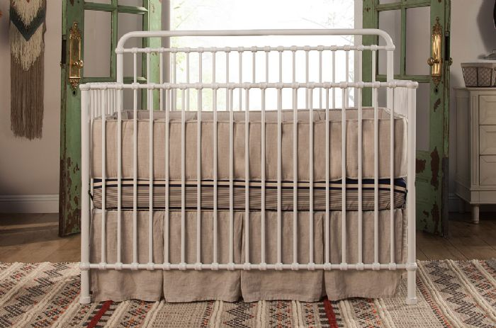 Winston 4-in-1 Convertible Crib with Toddler Bed Conversion Kit in Washed White by Million Dollar Baby Classic