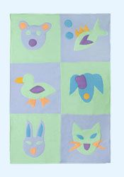 Friendly Faces Quilt by Little Moonjumper