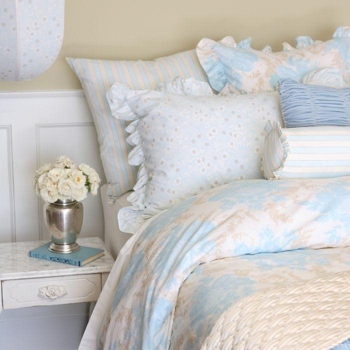Grande Fleur Sky Children's - Adult Bedding by Annette Tatum / House