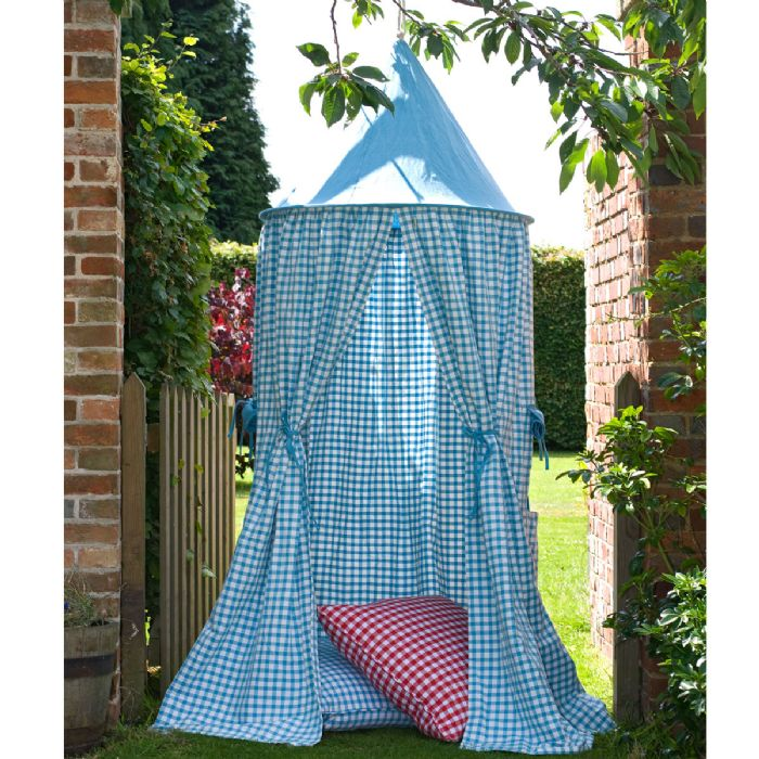 Hanging Tent in Sky Blue Gingham by Win Green