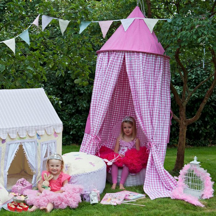 Hanging Tent in Candy Pink Gingham by Win Green