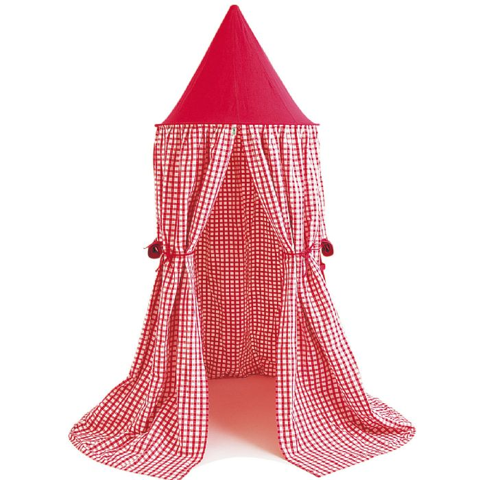 Hanging Tent in Cherry Red Gingham by Win Green