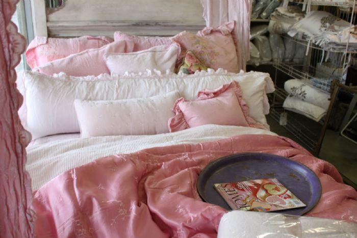 Velvet Satin Duvet Cover in Blush by Bella Notte Linens